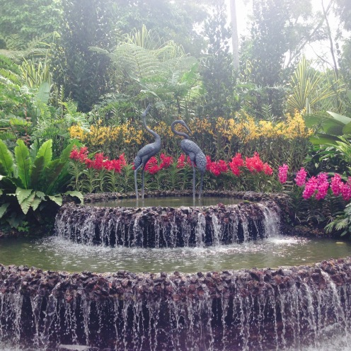 The entrance to the National Orchid Garden