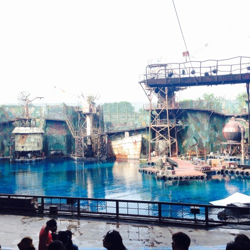 Inside the 'Waterworld' compound