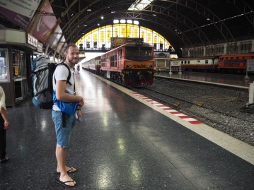 Arriving at Bangkok train station at Hua Lampong