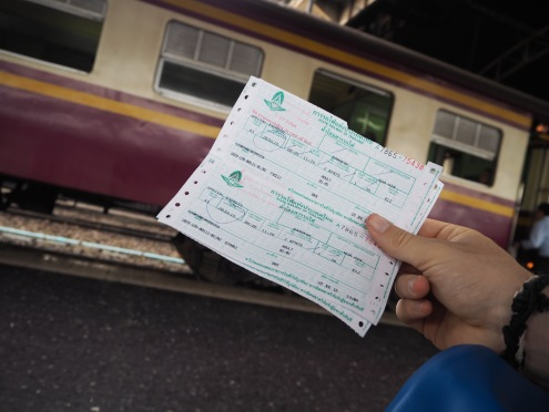 Our train tickets