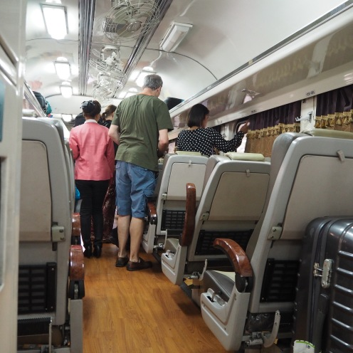 Inside the 2nd class train