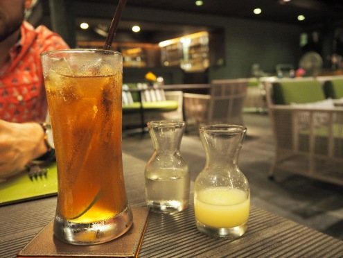 Sweet and sour iced tea