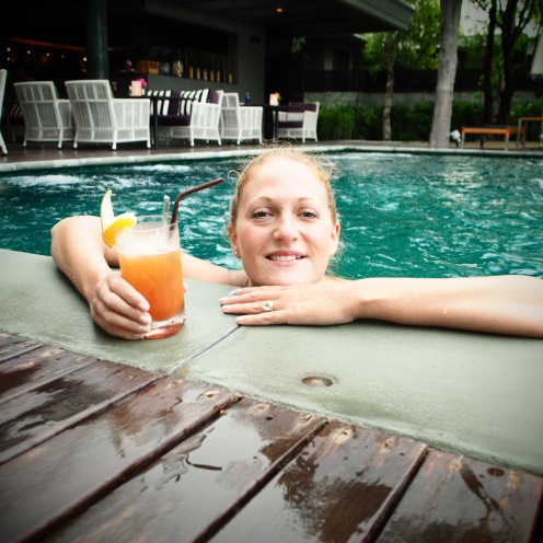 More cocktails, this time in the pool