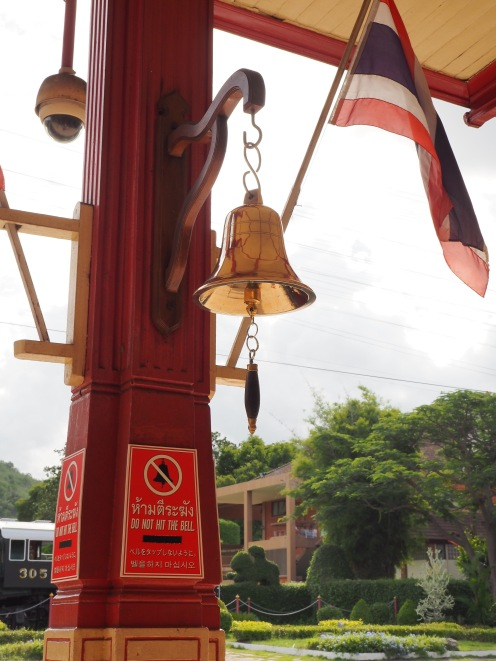 Do not ring the bell...unless there's a train coming!
