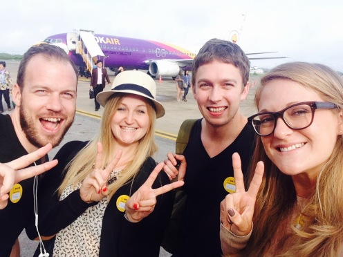 Selfie time in front of the plane!