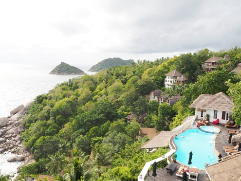 View from the restaurant over the pool
