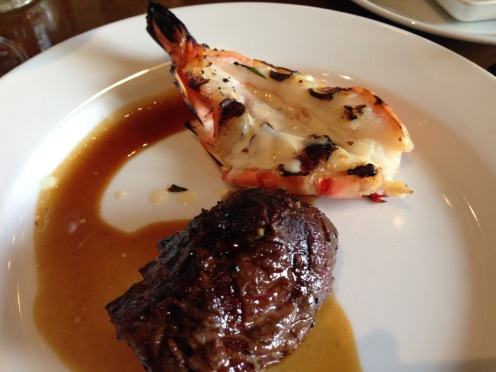 More Beef Tenderloin & prawns