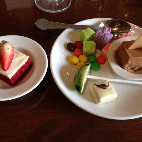 Selection of desserts/sweets