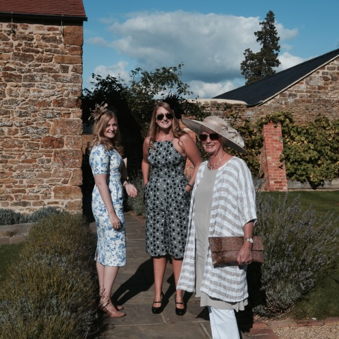 With my mum and sister ready for the wedding