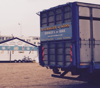 Donkeys and ice-cream at Weston-Super-Mare