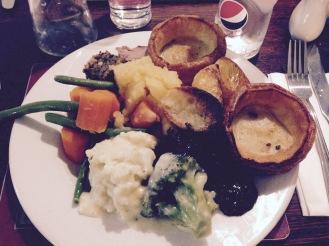 Delicious Sunday roast dinner
