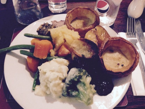 Delicious Sunday roast dinner