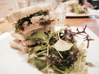 Goats cheese and Caramelised Red Onion sandwich at The Grey Goose, Gilmorton