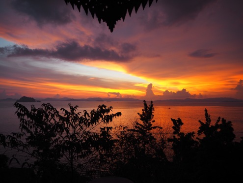The Koh Yao Yai sunset, totally unedited!