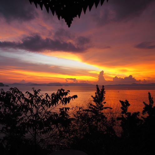 The Koh Yao Yai sunset, totally unedited!