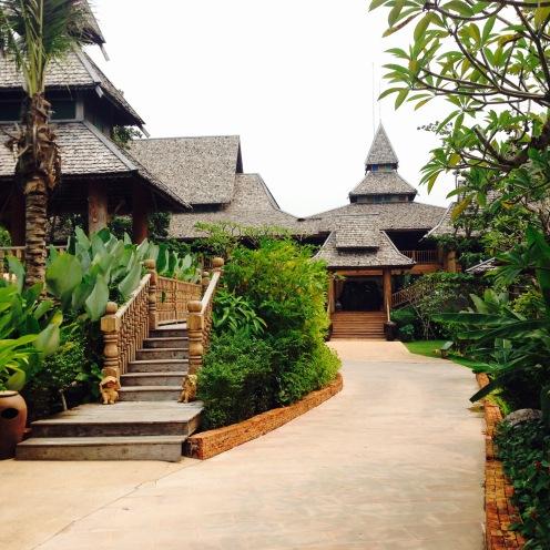 The lush resort