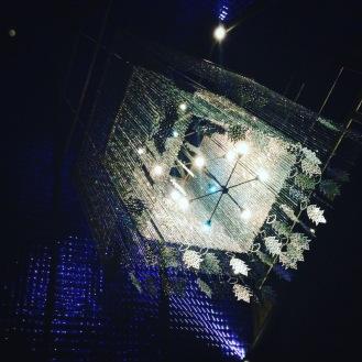 The incredible, huge chandeliers