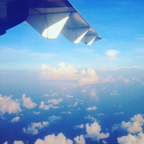 The beautiful sky as we headed home.