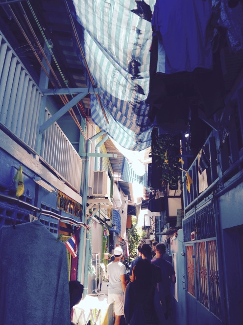 The narrow soi's of Klong Toey slum