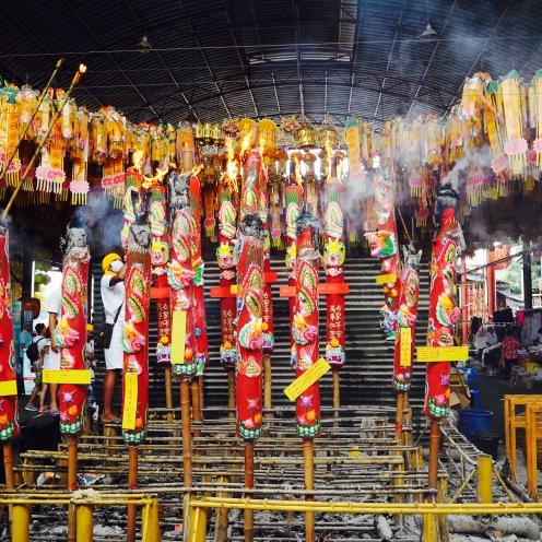 Huge incense sticks