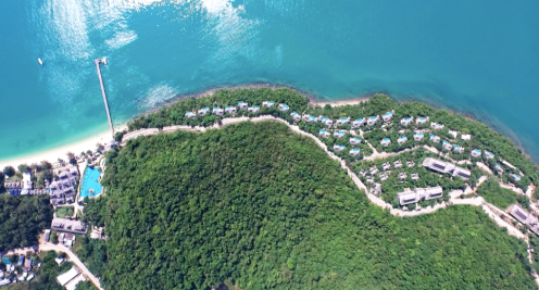 View of the resort from above taken from Santhiya website
