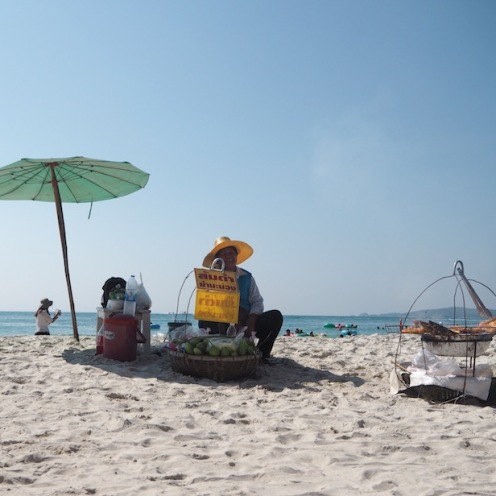 Beach hawkers