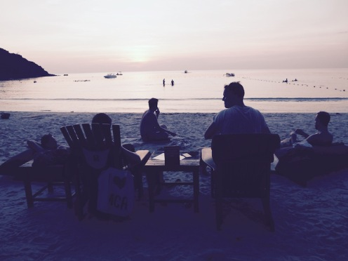 Watching the sunset on Ao Prao