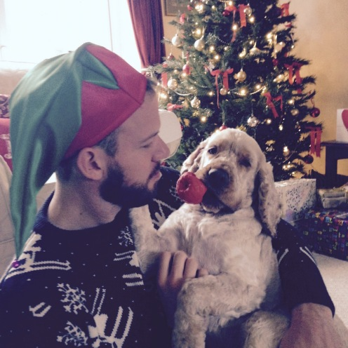 Christmas day with the pup