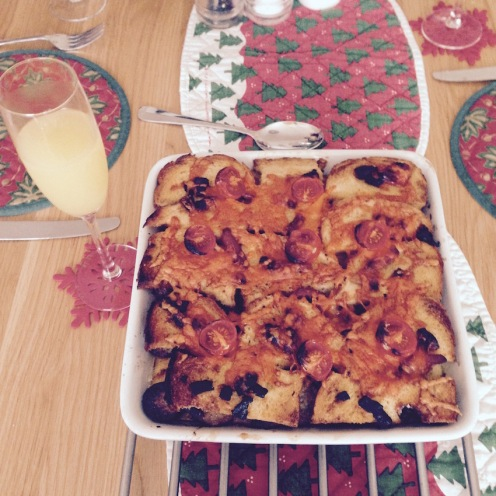 A breakfast Bread & Butter pudding