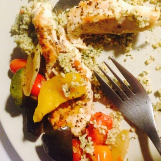 Chicken, veg and cous cous