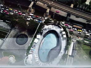 The view of the pool from our room!