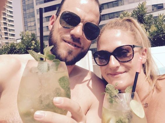 Enjoying some cocktails...