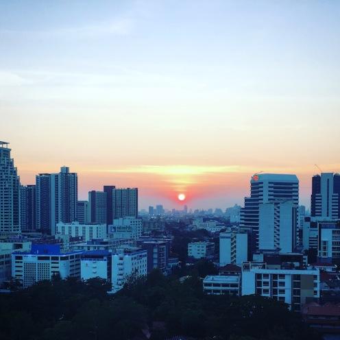 Beautiful Bangkok sunset