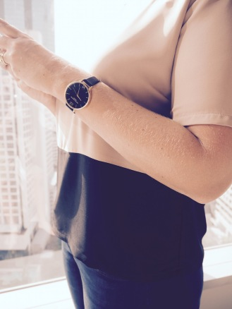 Zalora top | Olivia Burton watch