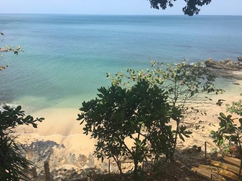 The beautiful private beach