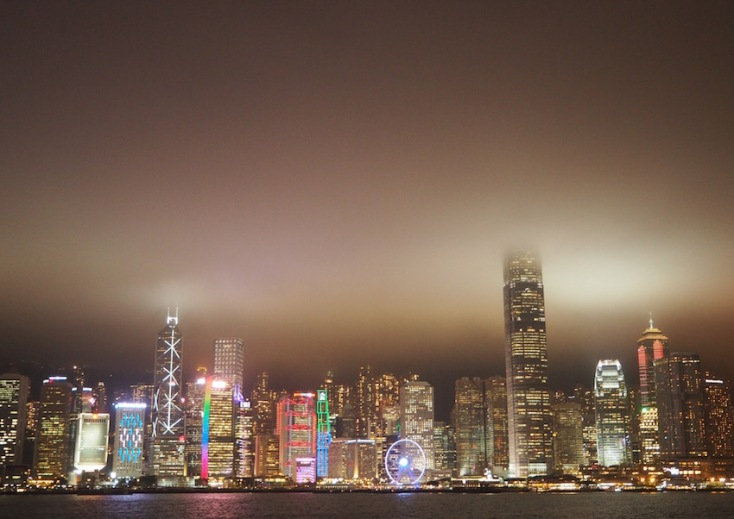 The famous 8pm light show
