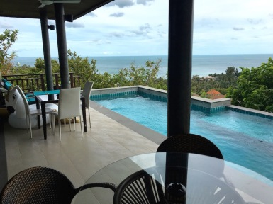 The beautiful pool and view