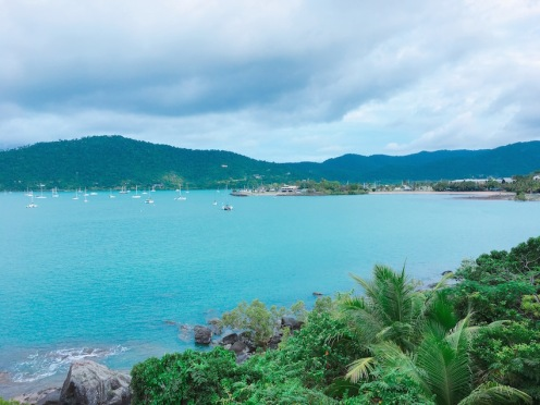 Looking back in Airlie Beach