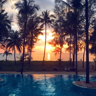 The sunset in Khao Lak
