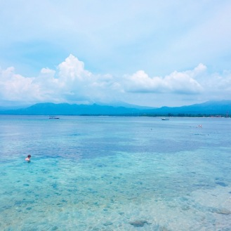 Lombok in the distance
