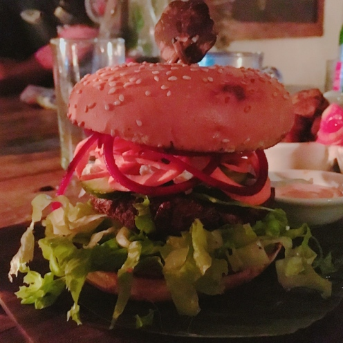 Amazing healthy burger