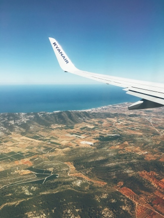 Flying into Castellon, Spain.