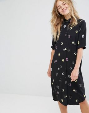 Monki Face Dress