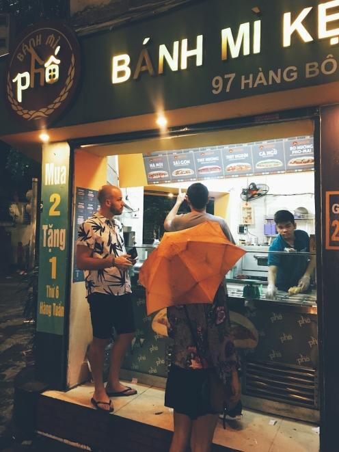 Enjoying some Banh Mi