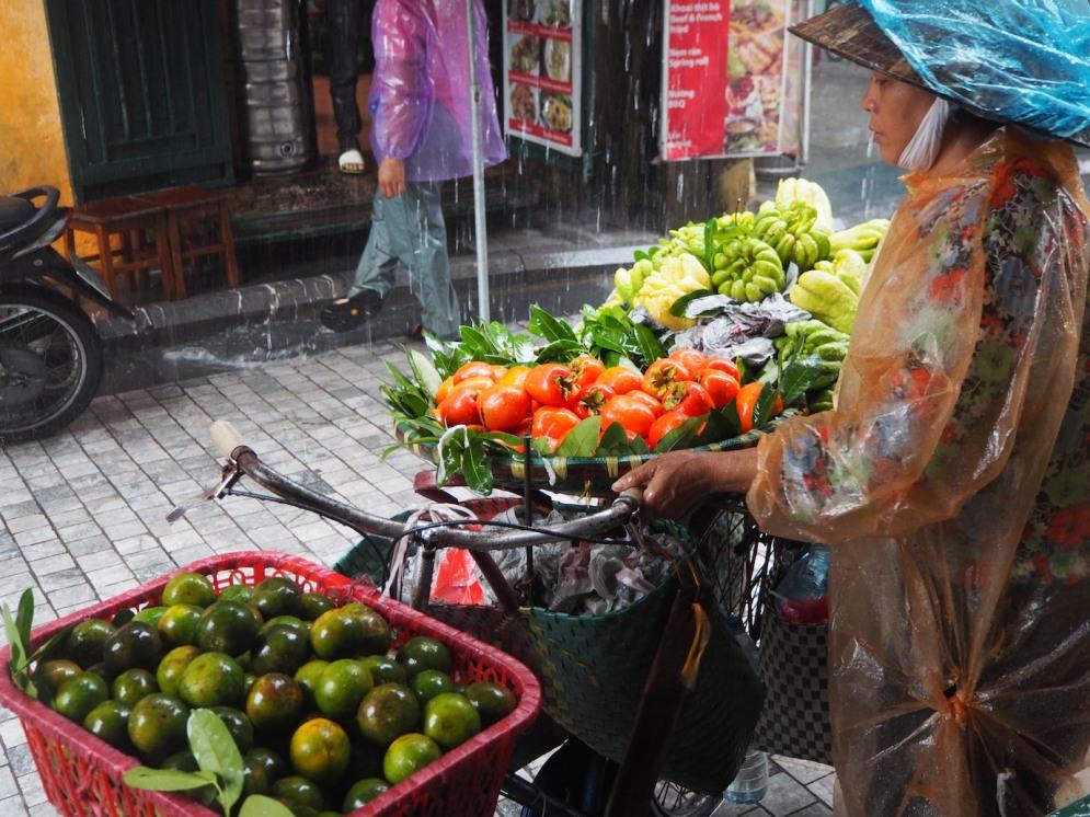 Vivid colours of the street vendors