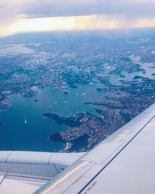 Amazing view flying into Sydney