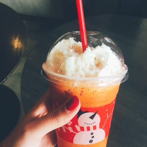 Festive iced Thai tea in True Coffee