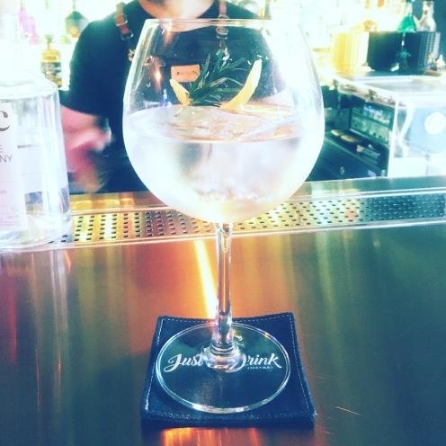 Gin at Just a Drink Maybe, Thong Lor