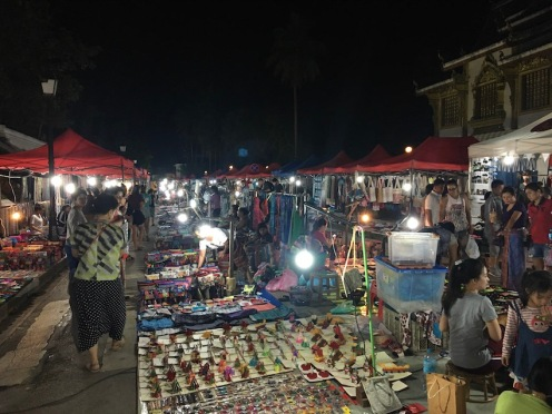 The daily night market on Main Street