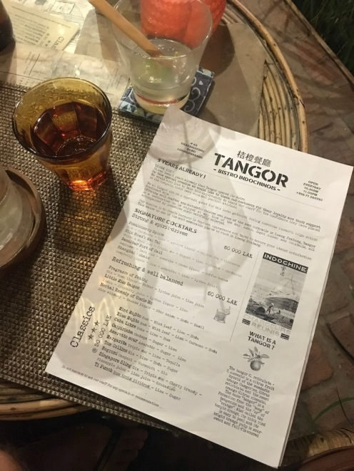 Tangor - great food and cocktails